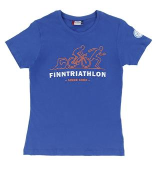 FINNTRIATHLON T-Paita Ladies Sininen - Since 1983