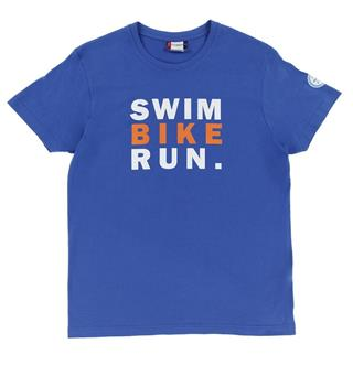 FINNTRIATHLON T-Paita Mens Sininen - Swim Bike Run