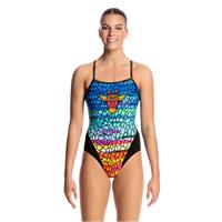 Funkita  Scorching Hot Uimapuku Single Strap back - kloorinkestävä