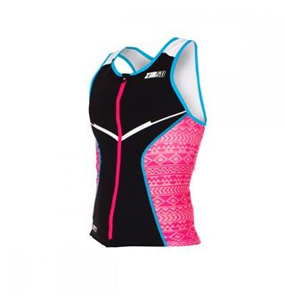 ZEROD racer TOP | Women Black / Pink